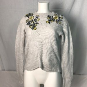 Rebecca Taylor Kelsey Embroidered Pullover XS
